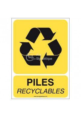 Panneau Piles Recyclables
