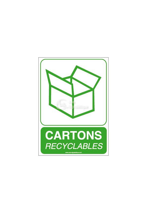 Panneau Cartons Recyclables