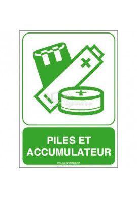 Panneau Piles et Accumulateurs