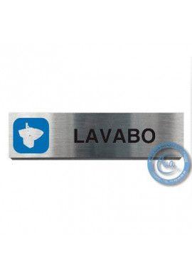 Plaque de porte Aluminium brossé Argent Lavabo 200x50 mm