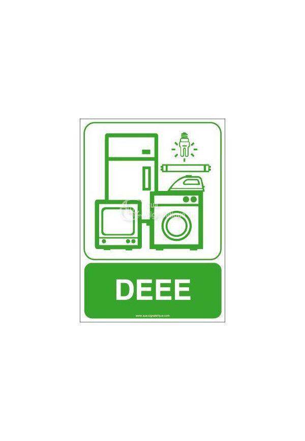 Panneau DEEE - Déchets d'équipements électriques et électroniques