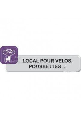 Autocollant VINYLO - Local vélos, poussettes