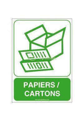 Panneau Papiers, Cartons