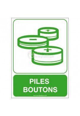 Panneau Piles Boutons