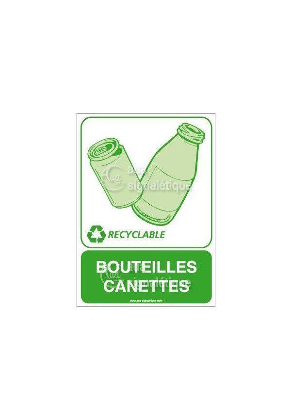 Panneau Bouteilles canettes - V