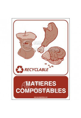 Panneau Matières compostables - V