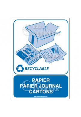 Panneau Papier Papier journal Cartons - V