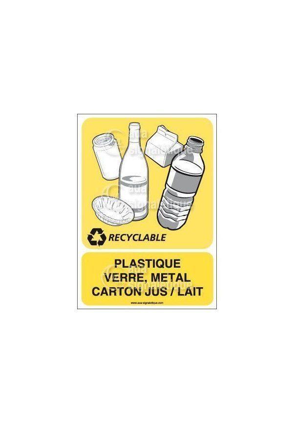 Panneau Plastique Verre Métal Carton - V