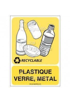 Panneau Plastique Verre Métal - V