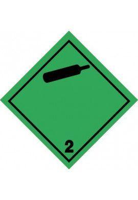 Etiquette N°2-2 Gaz