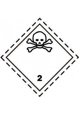 Etiquette N°2-3 Gaz toxiques