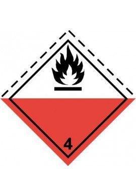 Etiquette N°4-2 Auto-inflammables