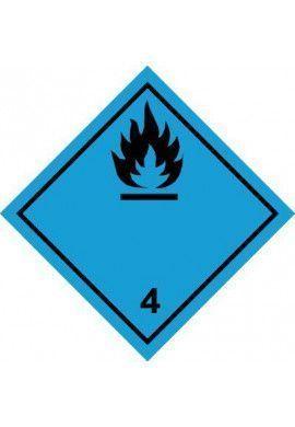 Etiquette N°4-3 Gaz inflammables au contact de l'eau
