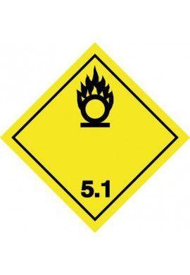 Etiquette N°5-1 Matières comburantes