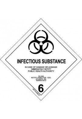 Etiquette N°6-2 Susceptible de produire une infection