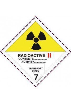 Etiquette N°7B Radioactive