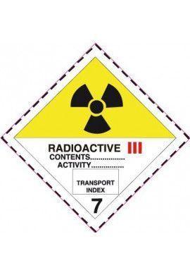 Etiquette N°7C Radioactive