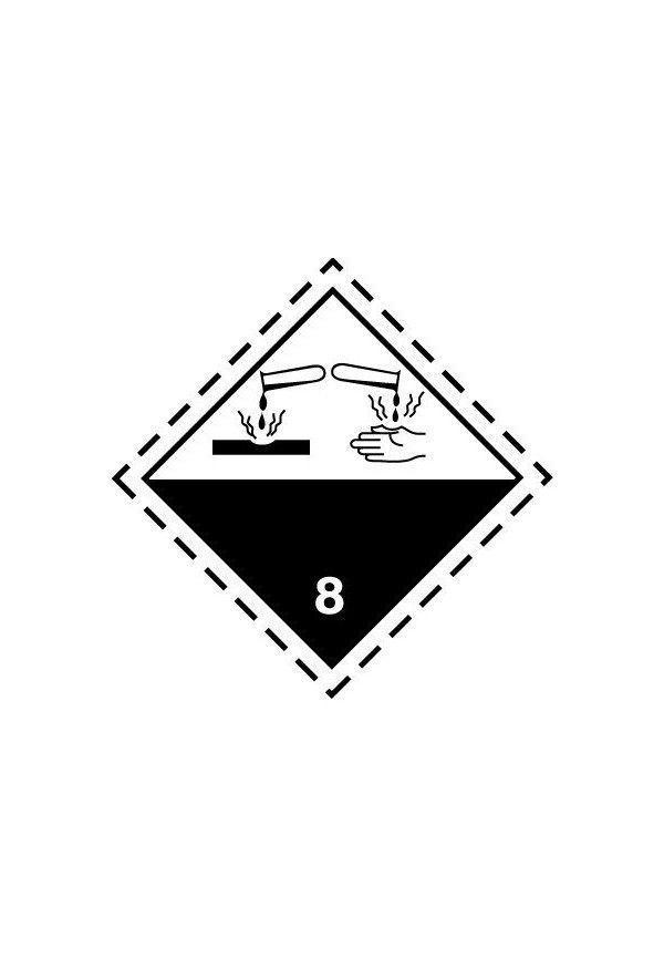 Etiquette N°8 Corrosif