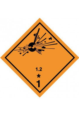Etiquette N°1-2 Explosif