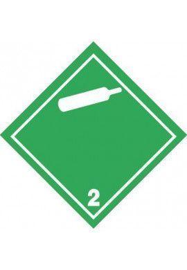 Etiquette N°2-2 Gaz-blanc