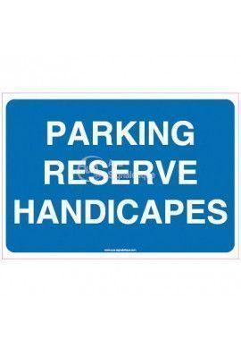 Panneau Parking réservé handicapés - texte