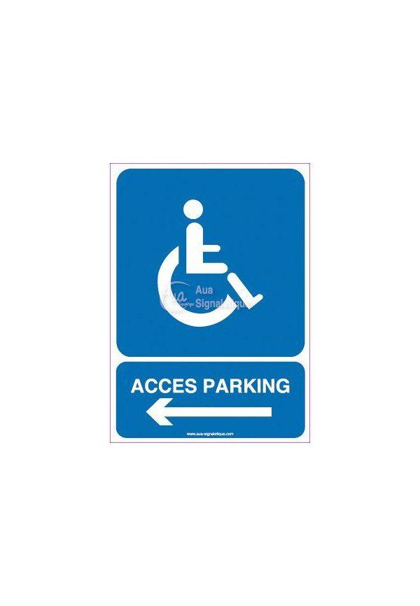Panneau Parking Accès Handicapés Gauche