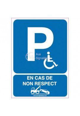 Panneau Parking Handicapés Risques de Fourrière-AI