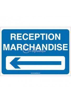 Panneau Parking réception marchandises à gauche