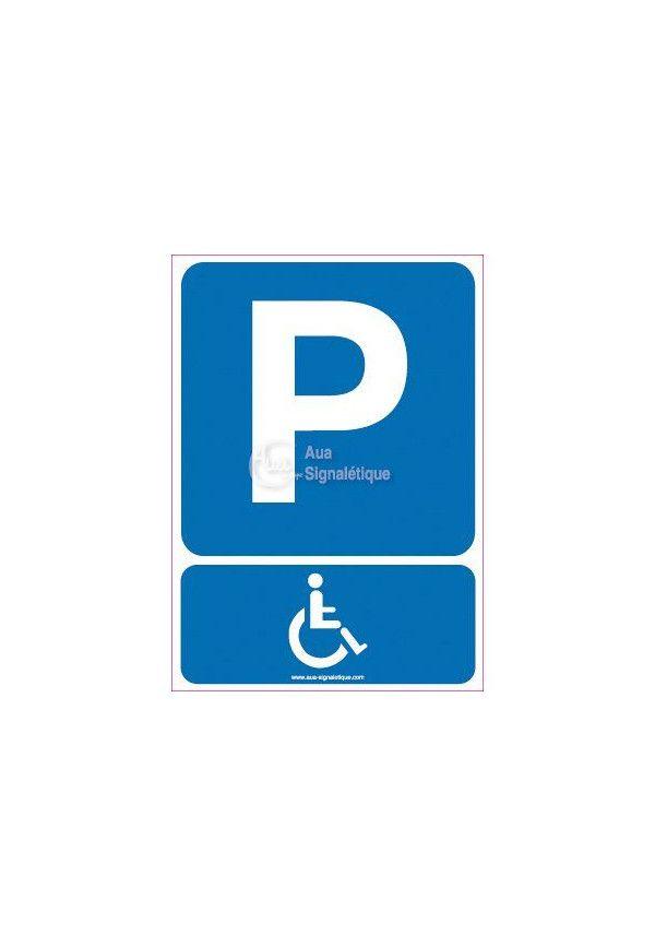 Panneau Parking Handicapés-AI