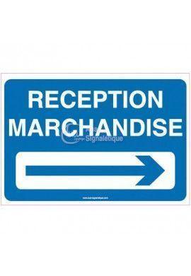 Panneau Parking réception marchandises à droite