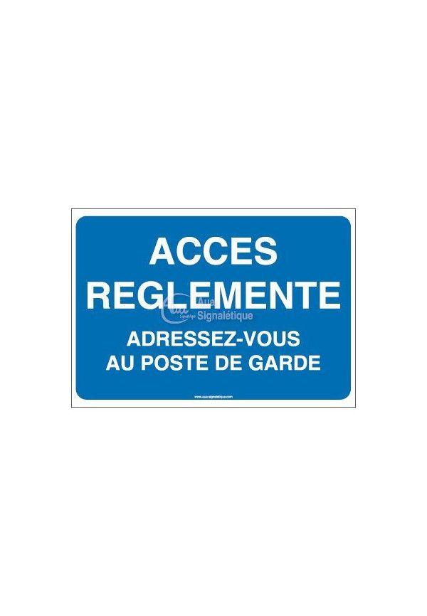 Panneau Parking Accès réglementé...
