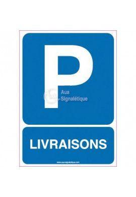 Panneau Parking Livraisons-AI