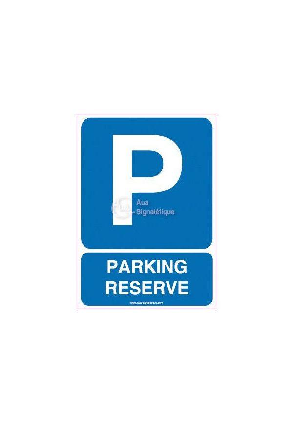 Panneau Parking Réservé 02 Vertical