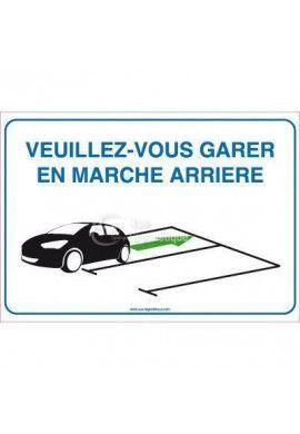 Panneau Veuillez-Vous Garer En Marche Arrière 04