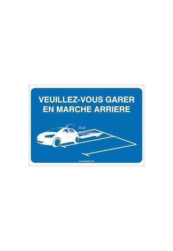 Panneau Veuillez-Vous Garer En Marche Arrière 03