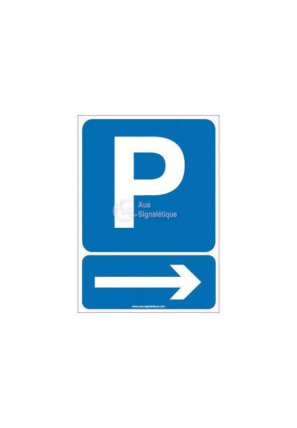 Panneau Parking Flèche Direction Droite