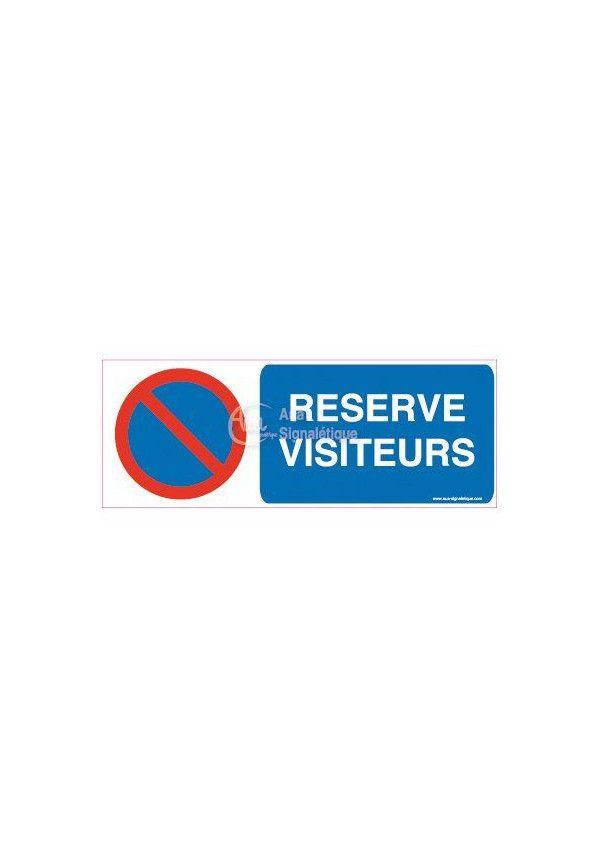 Panneau Parking réservé visiteurs-B