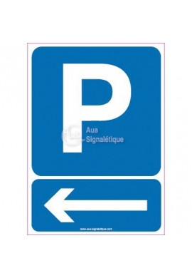 Panneau Parking Flèche Direction Gauche