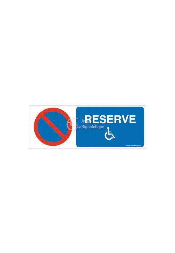 Panneau Parking réservé handicapés-B