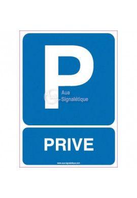 Panneau Parking Privé Vertical