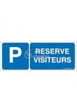 Panneau Parking réservé visiteurs-B02