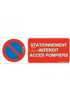 Panneau Stationnement Interdit Accès Pompiers 02