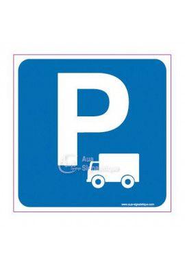 Panneau Parking Poids Lourds