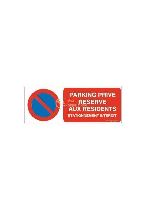 panneau parking priv r serv aux r sidents stationnement interdit sur. Black Bedroom Furniture Sets. Home Design Ideas