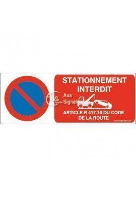 Panneau Stationnement Interdit + Article