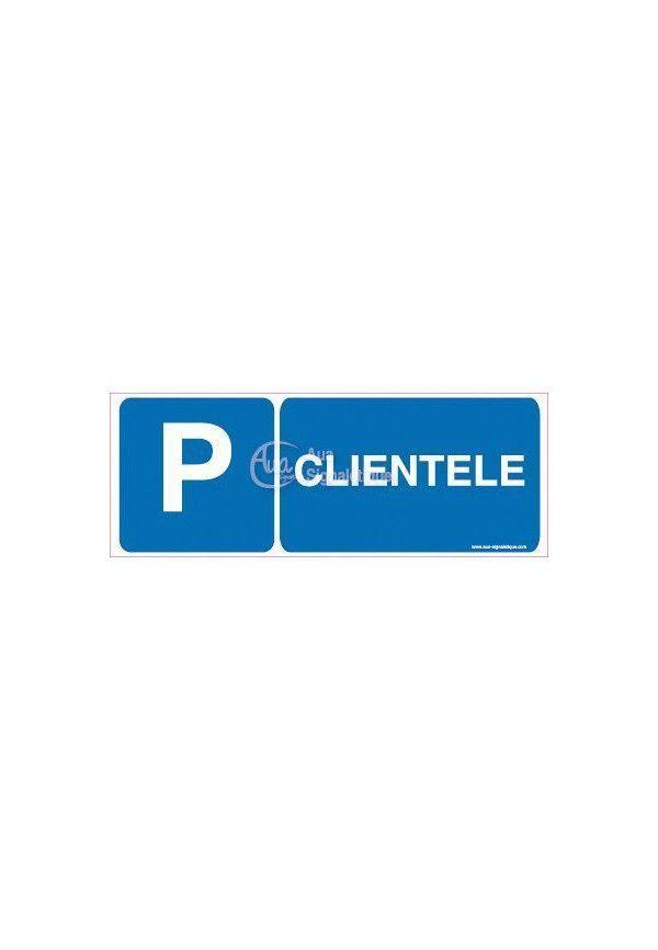 Panneau Parking Clientèle-B