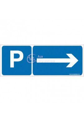Panneau Parking Direction Droite-B