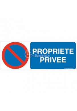 Panneau Parking Propriété Privée-B