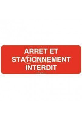Panneau arrêt et stationnement interdit