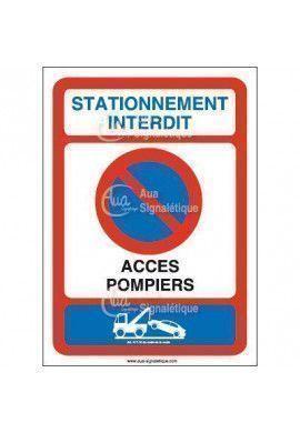 Panneau Stationnement Interdit accès pompiers-AI
